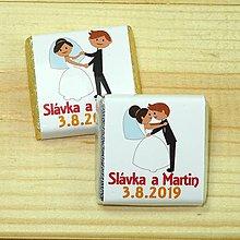 Darčeky pre svadobčanov - Svadobné čokoládky Svadba - 10378523_