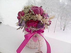 Dekorácie - Kvetinová krabička ... prírodná dekorácia - 10378331_