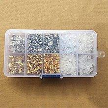 Komponenty - Set náušnicových zarážok - mix - 10375339_