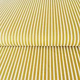 - úzke pásiky, 100 % bavlna Francúzsko, šírka 140 cm (Žltá) - 10375124_