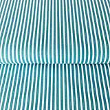- úzke pásiky, 100 % bavlna Francúzsko, šírka 140 cm (Tyrkysová) - 10375127_