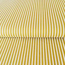 Textil - úzke pásiky, 100 % bavlna Francúzsko, šírka 140 cm (Žltá) - 10375124_