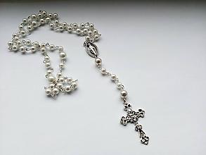 Iné šperky - Ruženec v bielej farbe - 10375875_