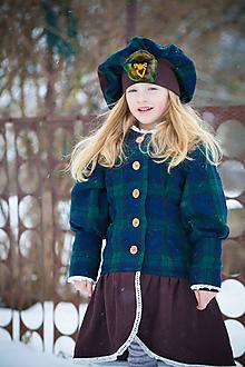 Detské oblečenie - Viktoriánsky kabátik s baretkou - 10375352_