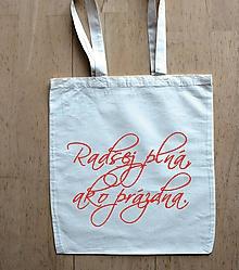 Nákupné tašky - taška radšej plná - 10375883_