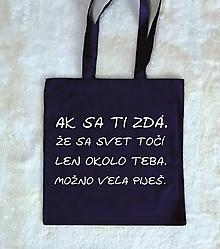Nákupné tašky - taška veľa piješ - 10375888_