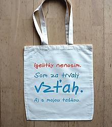 Nákupné tašky - taška igelitky nenosím - 10376007_