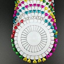 Galantéria - špendlík dekoračný srdce 1ks (Ružová) - 10376885_
