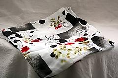 Textil - Materiál. Látka - Vzorovaný žoržet. - 10377784_