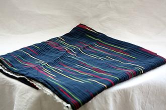 Textil - Látka. Tmavá vzorovaná viskóza. - 10377729_