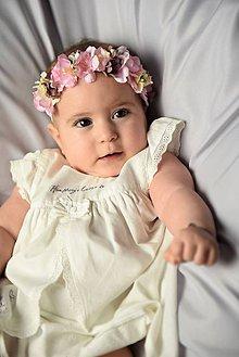 Detské doplnky - Kvetinová čelenka ružová neha - 10376354_