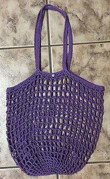Nákupné tašky - Háčkovaná sieťová taška - stretch - 10375987_