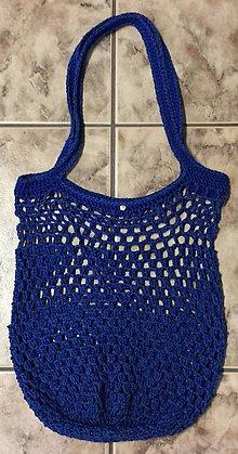 Nákupné tašky - Háčkovaná sieťová taška cez rameno - 10376027_