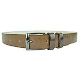 Doplnky - Svetlo hnedý kožený opasok so vzorom, 3cm, ručne melírovaný a dezenovaný - 10377654_
