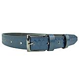 Doplnky - Tmavo modrý kožený opasok so vzorom, 3cm, ručne melírovaný a dezenovaný - 10377690_