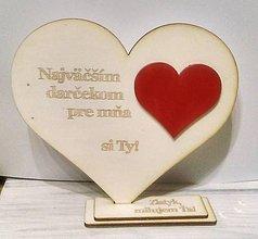 Tabuľky - Drevené srdce (Valentínske...) - 10375358_