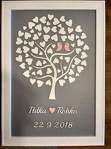 Dekorácie - Svadobná kniha hostí / svadobný strom - 10376093_