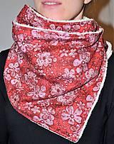 Šály - Šálik dAdKa - zimná verzia - červená vášeň - 10375299_
