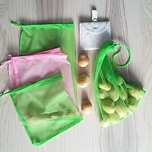 Nákupné tašky - Nákupný komplet eko vreciek na zeleninu - premium (Green Natur) - 10375838_