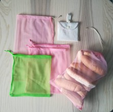 Nákupné tašky - Nákupný komplet eko vreciek na zeleninu - premium (Rose Natur) - 10375841_