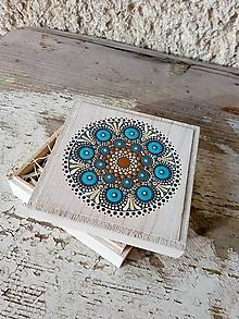 Dekorácie - Krabička na malé tajomstvá - Na dreve maľované - 10377554_