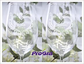 Nádoby - Callie - svadobné poháre - 2ks - 10374733_
