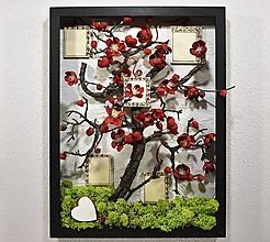 Dekorácie - Rodinný strom štastia - 10377893_