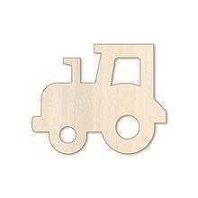 Polotovary - Traktor - drevený výrez - 10374778_