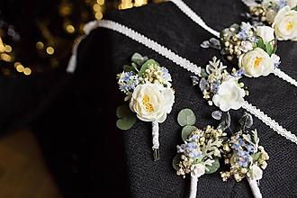"Pierka - Kvetinové svadobné doplnky ku kytici ""rána v nás"" - 10375435_"