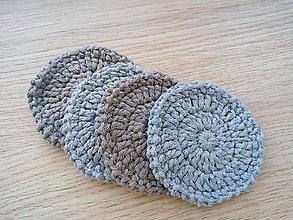 Úžitkový textil - Odličovacie tampóny (Modrá) - 10376546_