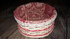 Košíky - Valentínsky košíček - 10374752_