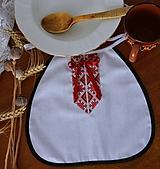 Iné doplnky - Svadobné podbradníky - FOLK viazačka - 10376061_