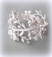 Náramky - Svatební náramek Rosa - 10375267_