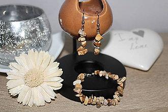 Sady šperkov - Set N&N (Jaspis obrázkový) - 10378140_