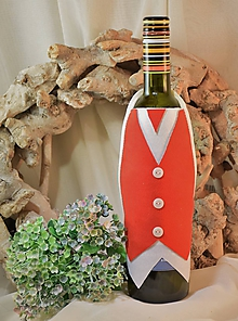 Úžitkový textil - Zásterka na fľašu - 10375377_