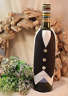 Úžitkový textil - Zásterka na fľašu - 10375387_