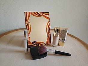Zrkadlá - Zrkadlo sklomaľba purpurové - 10375999_