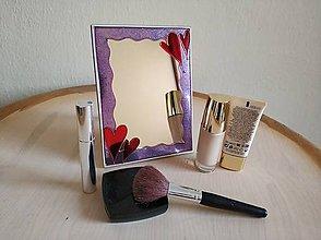 Zrkadlá - Zrkadlo sklomaľba srdiečka - 10376053_