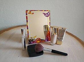 Zrkadlá - Zrkadlo sklomaľba mačky - 10376120_