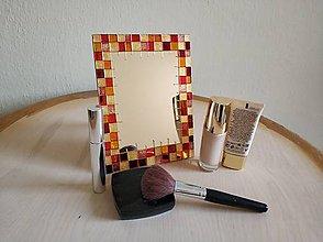 Zrkadlá - Zrkadlo sklomaľba kocky - 10376140_