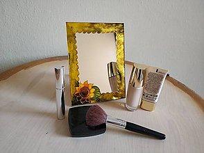 Zrkadlá - Zrkadlo sklomaľba zelené - 10376142_