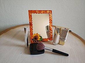 Zrkadlá - Zrkadlo sklomaľba oranžové - 10376149_