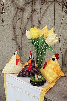 Dekorácie - Veľkonočná sliepočka - veľká - 10378335_