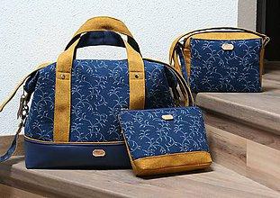 Veľké tašky - Na cesty s modrotlačou 1 - 10375512_