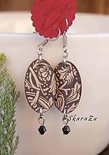 Náušnice - Florálny ornament / mini náušnice - 10377668_