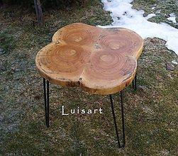 Nábytok - Stolík z topoľového dreva - 10377936_