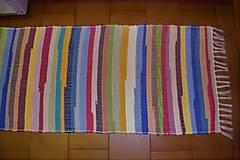 Úžitkový textil - Tkaný koberec pestrofarebný  5 - 10378005_