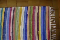 Úžitkový textil - Tkaný koberec pestrofarebný  5 - 10378015_