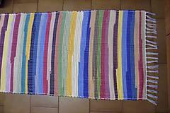Úžitkový textil - Tkaný koberec pestrofarebný  5 - 10378030_