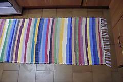 Úžitkový textil - Tkaný koberec pestrofarebný  5 - 10378039_